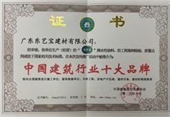 中国建筑行业十大品牌